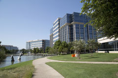 Modern office buildings and landscapes  in Hall Park Royalty Free Stock Photos