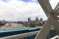 Modern office buildings in London, view from Tower Bridge, London, United Kingdom Royalty Free Stock Photo