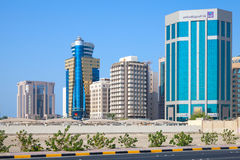 Modern office buildings of Manama city Royalty Free Stock Images