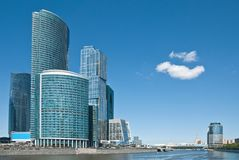 Modern office buildings in Moscow Stock Images