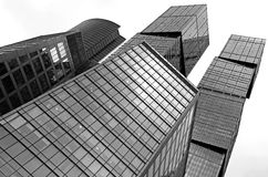 Modern office buildings in Moscow City stock photo