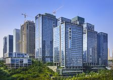 Modern Office Buildings. Newly built in Chongqing, China Royalty Free Stock Image