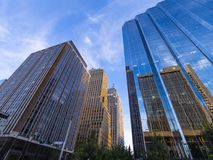 The modern office buildings at Oklahoma City Downtown area Stock Photo