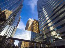 The modern office buildings at Oklahoma City Downtown area Stock Photography