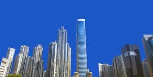 Modern Office Buildings On Clear Blue Sky Stock Photo