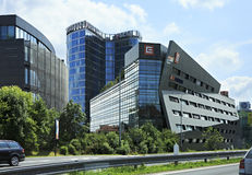 Modern office buildings in Prague Royalty Free Stock Photography