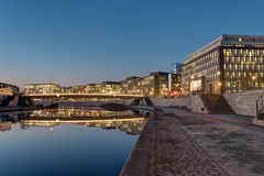 Modern office buildings at the river Spree in Berlin Royalty Free Stock Photos