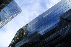 Modern office buildings. Seen from below Royalty Free Stock Images