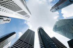Modern office buildings in Singapore.  Stock Image