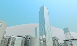 Modern office buildings, skyline background Royalty Free Stock Photos
