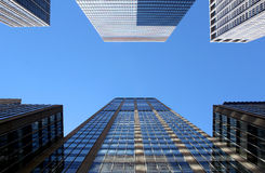 Modern office buildings and skyscraper background Royalty Free Stock Photos