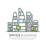 Modern Office Buildings, Skyscraper, Glass Town Stock Photo