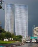 Modern office buildings, Tel Aviv stock photo