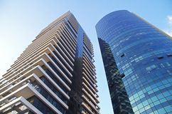 Modern office buildings. In Tel Aviv, Israel Royalty Free Stock Photo