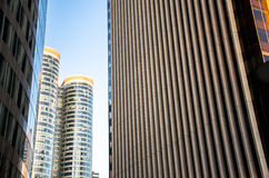 Modern office buildings. View of modern office buildings Royalty Free Stock Images