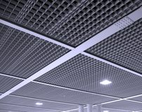 Modern Office Ceiling Pattern Stock Photography
