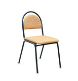 Modern office chair from beige cloth Stock Photo