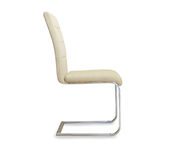 Modern office chair from beige leather. Royalty Free Stock Image