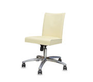 Modern office chair from beige leather. Stock Image