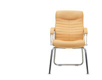 Modern office chair from beige leather. Royalty Free Stock Photography
