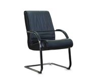 Modern office chair from black leather Royalty Free Stock Photo