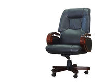Modern office chair from black leather Stock Photo