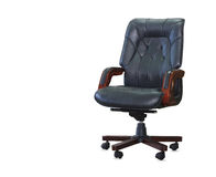 Modern office chair from black leather Stock Photography
