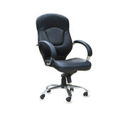 Modern office chair from black leather Royalty Free Stock Photos