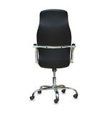 Modern office chair from black leather. Royalty Free Stock Image