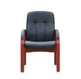 Modern office chair from black leather. Stock Photo