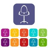 Modern office chair icons set flat Stock Photo