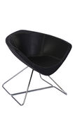 Modern Office Chair style. Elegant black leather chair isolated on white. chair with fabric upholstery Royalty Free Stock Image