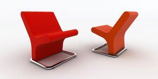 Modern office chairs Stock Image