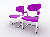 Modern office chairs Stock Photo