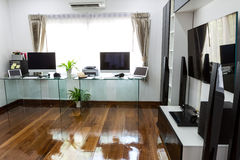 Modern office with computer and labtop Royalty Free Stock Photography