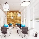Modern Office Conception 01 focus stock illustration
