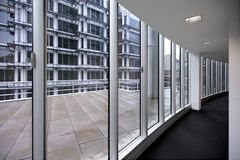 Modern office corridor. In contemporary office building Royalty Free Stock Photo