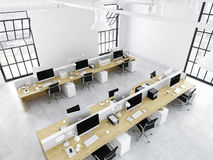 Modern office with creative spaces. 3d rendering Royalty Free Stock Photography