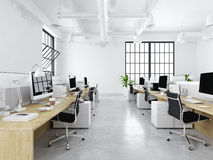 Modern office with creative spaces. 3d rendering Stock Photography