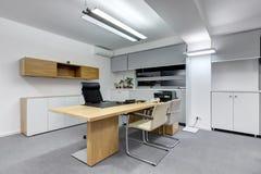 Modern office desk Stock Photos