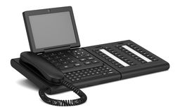 Modern office desk phone isolated on white Stock Image