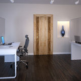 Modern office. The door at interior Stock Images