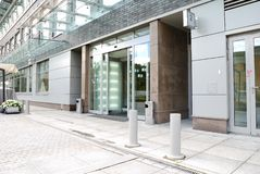 Modern office entrance. With wide angle Royalty Free Stock Images