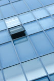 Modern office facade fragment. With blue glass Royalty Free Stock Photos