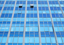 Modern office facade perspective with blue glass Stock Photo