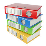 Modern office folders with documents Stock Photography