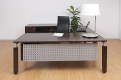 Modern office furniture. Desk and chair Royalty Free Stock Images