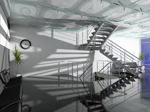 The modern office hall Stock Images
