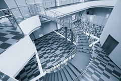 Modern office hall with stairs Royalty Free Stock Photos