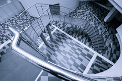 Modern office hall with stairs Stock Images